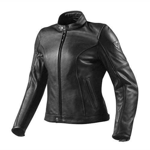 Revit Motorradjacke Damen Roamer, Farbe schwarz, Größe 44