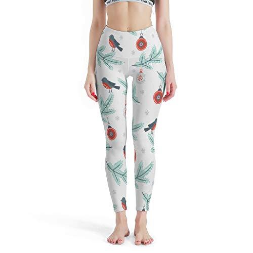 Annlotte Little Bird Leggings personalizados para niñas, cintura alta, pantalones de yoga, diversión para yoga, entrenamiento, color blanco