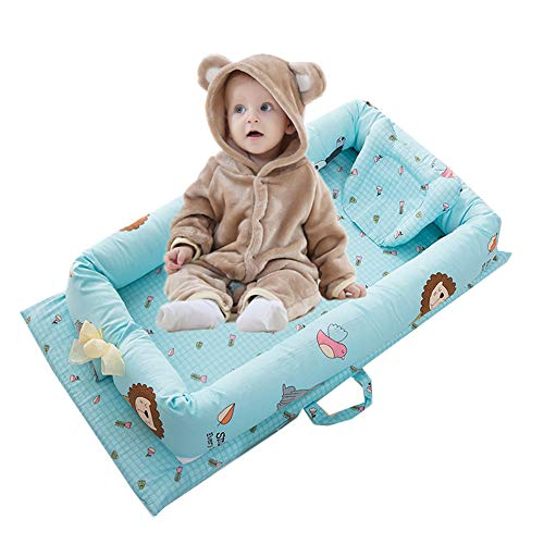 Abreeze Baby Bassinet for Bed Zoo Design Baby Lounger  Breathable amp Hypoallergenic CoSleeping Baby Bed  100% Cotton Portable Crib for Bedroom/Travel