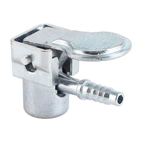 Socobeta , Conector de válvula de inflado de neumáticos Clip de bomba de aire diseño de flujo cerrado para manguera de bomba de aire auto con 5-6 mm para diámetro interior de 0.20-0.24 pulgadas