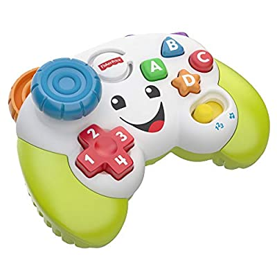 Fisher-Price FWG12 Game and Learn Controller, Teaching First Words, Letters, Numbers, Colours and Shapes with Songs and Sounds, 6 Months from Mattel