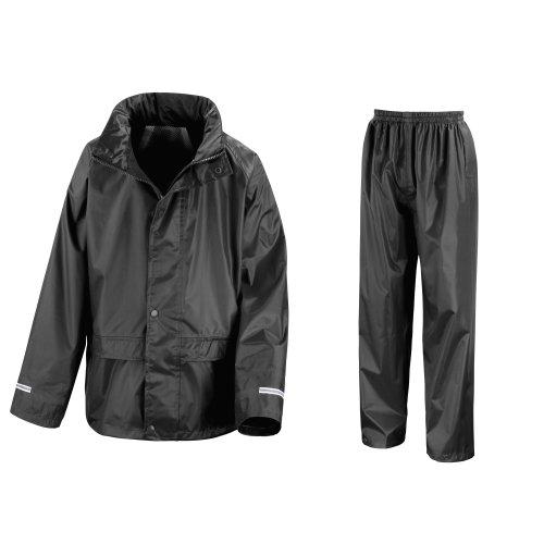 Result Core ChildrensKids Unisex Junior Rain Suit Jacket 9 10 Black