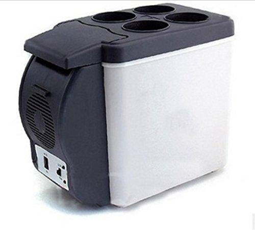 AMYMGLL Portable 6L mini voiture réfrigérateur réfrigéré frais et chaud avec un porte-tasse tension 12V voiture 220V maison puissance 48 (W) poids 2.5kg taille 25 * 30 * 26.5 * cm