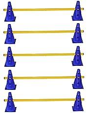 Boje Sport Set de 5 Unidades de obstáculos para el Entrenamiento de la coordinación, Amarillo-Azul - 10x MZK23b 5X 100y