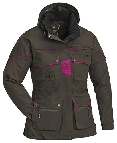 Pinewood 3080 New Jacke Dog Sports Damen Wildlederbraun/Fuchsia (245) S