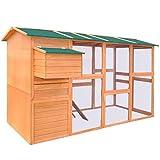 Gallinero de madera, jaula para gallinero grande, gallinero con valla, bandeja y un...