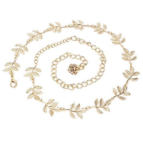 Demarkt Damen Mode Gürtel Kettengürtel Kleiden Taillengürtel Hüftgurt, Ideal für Kleid, elegantes Design gold silber