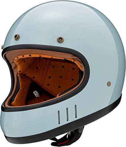マルシン(MARUSHIN) バイクヘルメット ネオレトロ フルフェイス DRILL (ドリル) クラシックブルー Lサイズ (59-60cm) MNF2 2002515