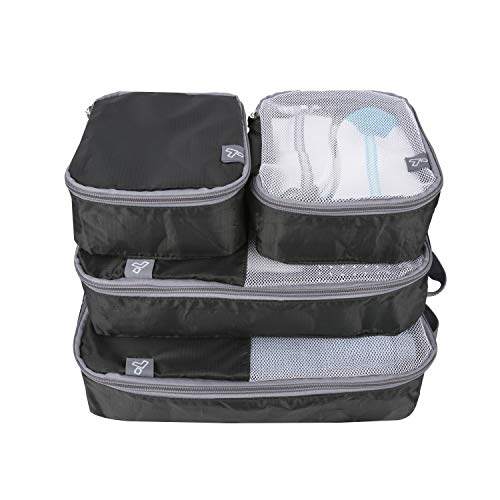 Travelon: Set of 4 - Soft Packing Organizers - Black