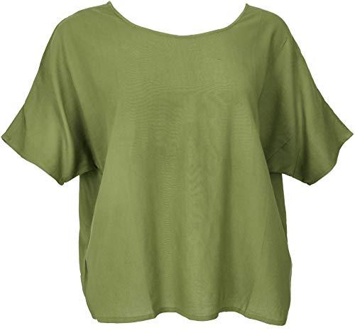 Guru-Shop szeroki top z rękawami nietoperza, bluzka maxi, damska, czerwona, syntetyczna, rozmiar: 42, bluzki i tunika alternatywna odzież