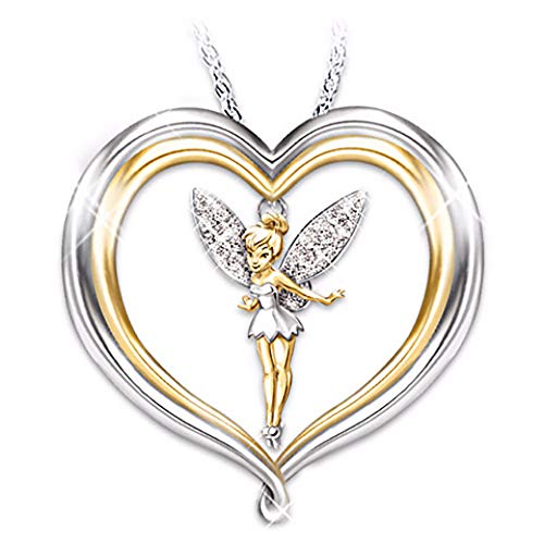 Ginger Lyne Collection Fairy Pendant Necklace Winged Angel Heart Girls