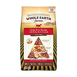 Whole Earth Farms Grain Free Recipe Dry Dog Food Pork, Beef & Lamb