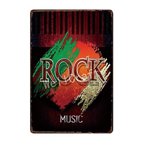 LGGROCK Rock Music Metal Cartel de chapa Concierto Decoración SA2133