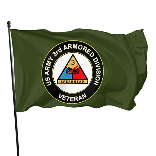 Hongflag 3x5 Foot Flag Us Army Veteran 3rd Armored Division Flag