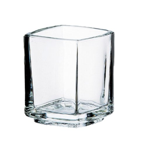 Postre de vidrio cuadrado pequeño Kube