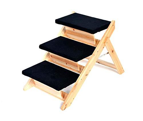Maxx Hundetreppe und Katzentreppe | 3-stufige Treppe für Hunde und Katzen bis 10 kg | Klappbare Hunderampe für Auto und Innenbereich
