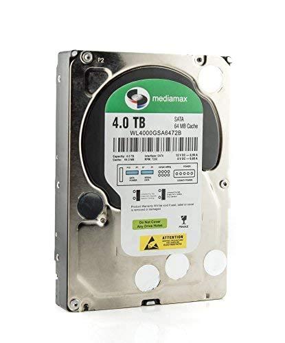"""Mediamax 3.5\"""" (8,9 cm) interne Festplatte 4TB HDD, SATA III, 6.0 Gb/s Cache 64MB, RPM: 7200 (U/min), 4000GB, WL4000GSA6472B, SATA Festplatte intern, Backup Festplatte für Desktop PCs, Gaming Computer"""
