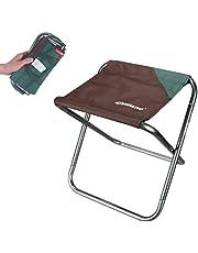 Hodeacc Kleine draagbare vouwkruk,Mini Outdoor Camping vouwstoelen,Opvouwbare kampeerkruk Lichtgewicht voor kamperen, vissen, picknicken, reizen en wandelen
