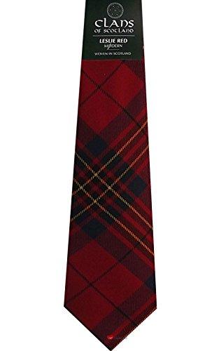 I Luv Ltd Leslie Red Clan 100% Wool Scottish Tartan Tie