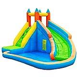 qazxsw Sports Toys Inflatable Children's Trampoline Household Children's Slide Summer Children's Play Pool Children's Outdoor Toys Garden Castle