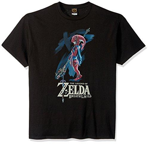 Nintendo Men's Zelda Breath of The Wild Mipha Paint T-Shirt, Black, Small