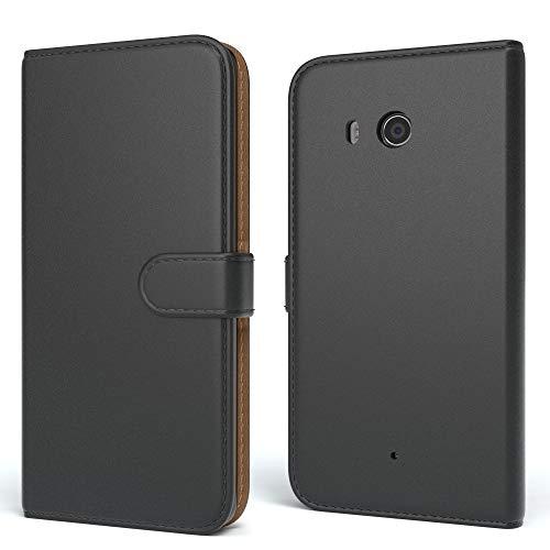 EAZY CASE Hülle für Nokia Lumia 550 Bookstyle mit Standfunktion, Book-Style Case aufklappbar, Schutzhülle, Flipcase, Flipstyle, Flipcover mit 2 Kartenfächern aus Kunstleder, Schwarz