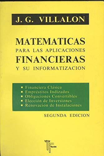 Matematicas para aplicaciones financieras y su informatizacion
