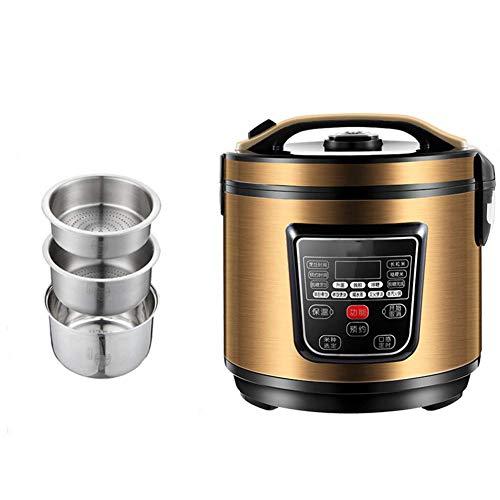Xiaoyue Intelligent Digital Multi Reiskocher mit 8 Multicooker Funktionen und Zucker-Reduzierung for Fette Leute und diabetischen (3L) lalay