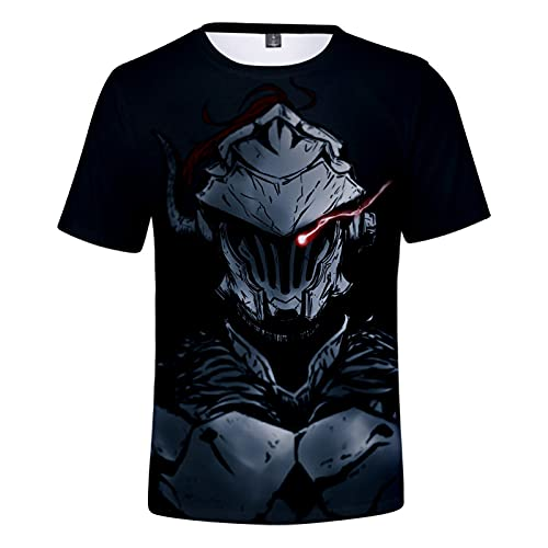 YJXDBABY-Goblin Slayer-Unisex 3D Printed Short Sleeve T-Shirt,Summer Men's T-Shirts Casual Graphic,Relaxed Easy Round Neck T-Shirt Top,Child Breathable Tees Top-L