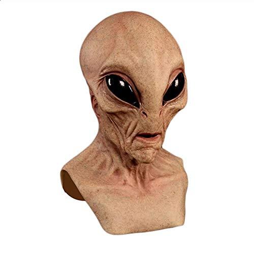 Mscara aliengena, mscara de disfraz aliengena, mscara de geezer espeluznante de ltex, mscara de disfraz de Halloween para adultos