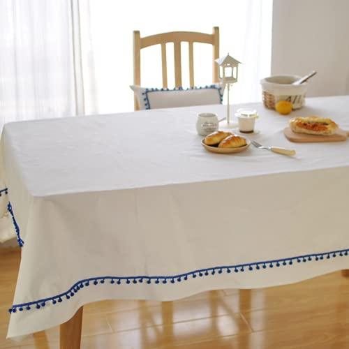 JDHANNE Piccolo Stile Fresco Moderna Nappa Cotone Lino Tovaglie Anti-Macchia Tovaglie per La Cucina All'Aperto O all'Interno Copritavolo 90X90cm