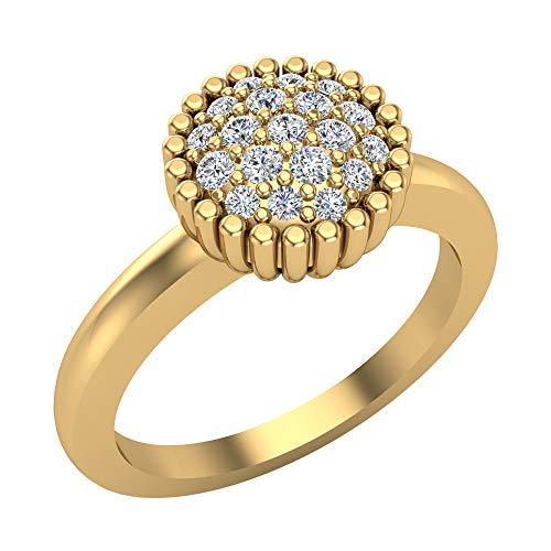 Glitz Design Mujer Niños Hombre Unisex 750 Gold oro amarillo 18 quilates (750) Round Brilliant GH Diamond