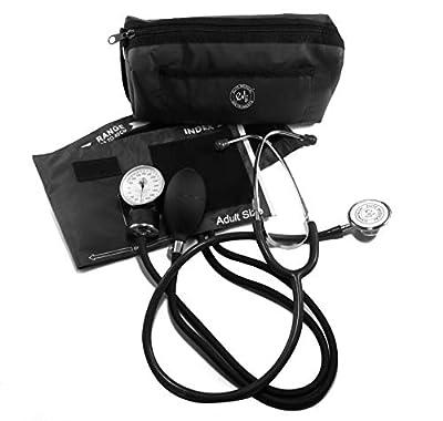 EMI #305 Aneroid Sphygmomanometer Blood Pressure Monitor and Dual Head Stethoscope Kit Set