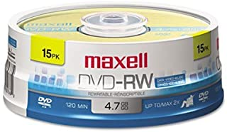 DVD-RW Discs, 4.7GB, 2X, Spindle, Gold, 15/Pack, Sold as 2 Package