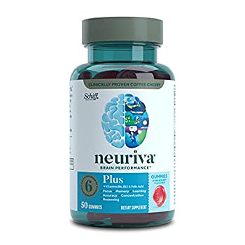 Neuriva Nootropic Brain Support Supplement - Plus Strawberry Gummies  50 Count in a Bottle  Phosphatidylserine B6 B12 Supports Focus Memory Concentration Learning Accuracy and Reasoning