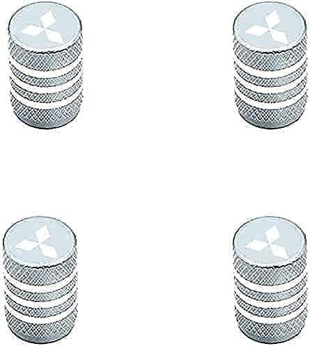 4 Piezas Acero Inoxidable Coche Válvulas Tapas para Mitsubishis ASX Lancer Pajero Outlander, Anti Polvo Resistente Agua, anillos de goma Decoración Accesorios