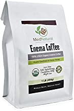 MedNatural Organic Enema Coffee – USDA Certified Organic Coffee for Liver Detox – Colon Hydrotherapy – Gerson Therapy – Constipation Relief – Weight Loss – Whole Bean -1 lb