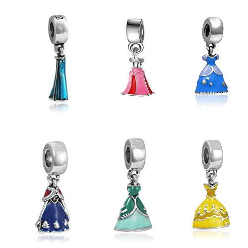 Pendentifs Collection Robes héroïnes Disney + 1 Robe mystère Gratuite ! - idée Cadeau - Charms Perles Bracelets compatibles Toutes Marques - Soldes d'hiver -