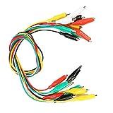 Pinza de alambre de prueba, 10 pinzas de cocodrilo de 19,69'número de pinzas de cocodrilo de doble extremo de 1,38' para aparatos eléctricos