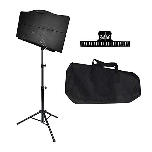 lahomia Music Sheet Stand Foldable Orchestral Holder with Carrying Bag Gift for Musician