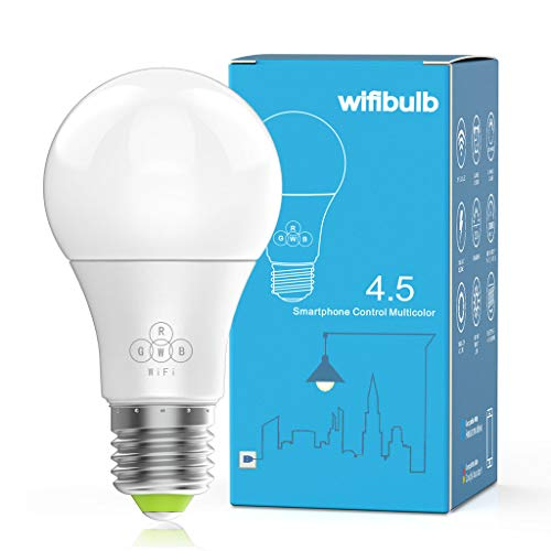 Ywoow  Smart WiFi Light Bulb LED RGBColor Changing Compatible with Amazon Alexa and Google Home Assistant E27