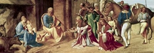The Adoration of the Magi ca1490 Giorgione (1477-1510 Italian) Oil on canvas National Gallery London England Poster Print (24 x 36)