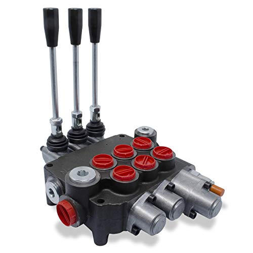 Monoblock Hydraulic Directional Control Valve, 3 Spool, w/Single Float, 21 GPM