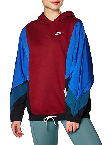 NIKE CJ2029-677 Hooded Sweatshirt, Team Red, XS Womens