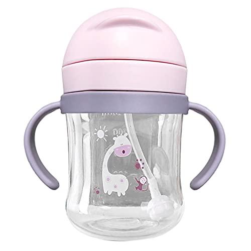 Sippy Cup Bebe - Taza antiderrames para bebés, 250 ml, para bebidas, botellas de agua con boquilla suave, vaso de boquilla con asas, regalo para bebés de 6 a 12 meses