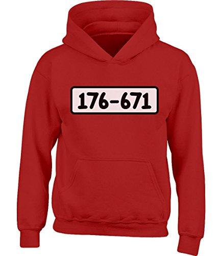 Shirtgeil Kids Panzerknacker Banditen Bande Kostüm Kinder Kleinkind Hoodie Kapuzenpullover 5-6 Jahre (116) Rot