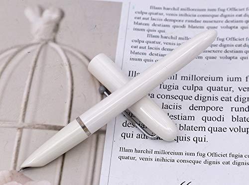 KACO RETRO Pluma estilográfica de color blanco, Schmidt Converter Plumín extra fino con estuche de regalo original