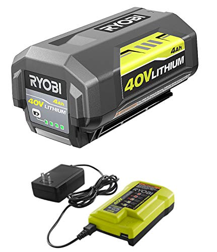 Ryobi 40V Battery and Charger Kit 4.0 Ah Lithium-Ion Battery Set OEM OP4040 + OP403A