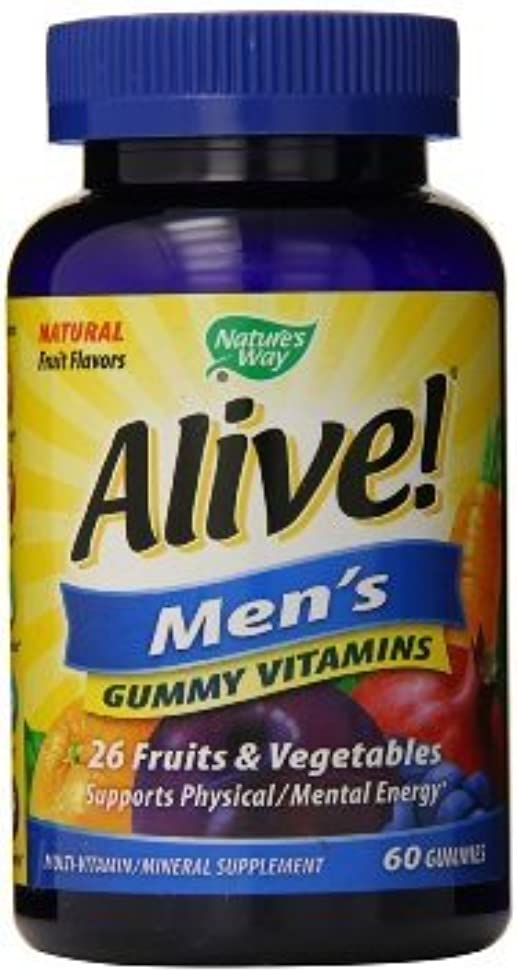 Nature's Way Alive Men's Gummy Vitamins 60 Count (2 Pack)