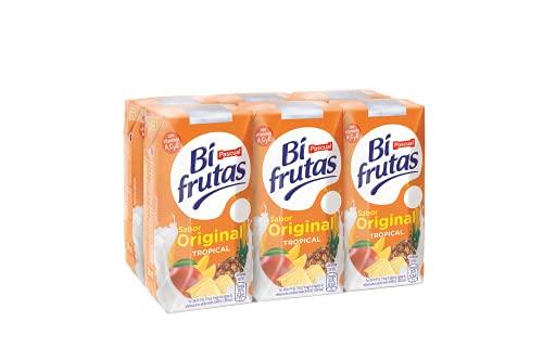 Bifrutas Tropical Bebida Refrescante con Leche y Zumo de Frutas, Pack de 6 x 200ml